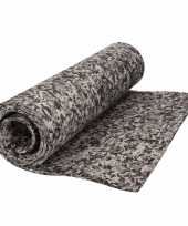 Yogamat grijs camouflageprint